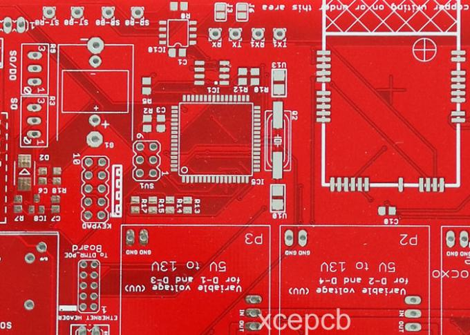 6 Layer Multilayer PCB Red Solder Mask White Silk Screen For