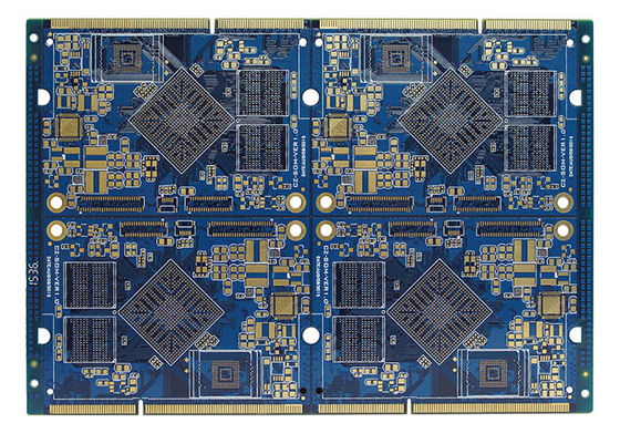 China FR4 Electronics Air Conditioner Part PCB Multilayer Board Blue Soldermask Supplier