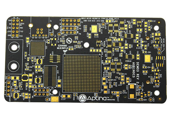 China High TG Black Soldermask Prototype Multi Layer Pcb Laser Drill Communicate Electronics Board Supplier