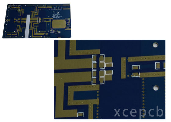 China Rogers Arlon Taconic Radio Frequency Microwave Rfmw Pcb Double Layer Immersion Silver Surface Supplier