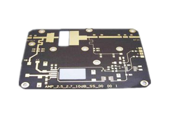 China Rogers5880 4 Layer Base Station Black Soldermask Double Sided PCB Supplier