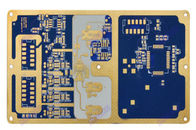 China 6 Layer Pcb Board Prototype Customized Blue Soldermask Rogers Circuit Board company
