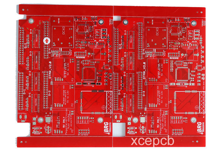 professional 6 layer multilayer pcb red solder mask white silk rh fr4 pcb com